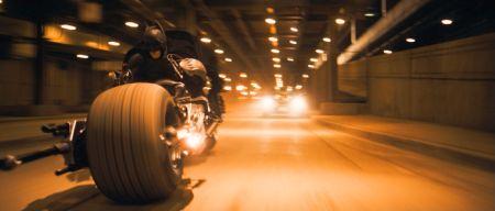 The Dark Knight - Szene mit dem Batbike