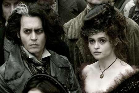 Sweeney Todd mit Johnny Depp, Alan Rickman und Helena Bonham Carter